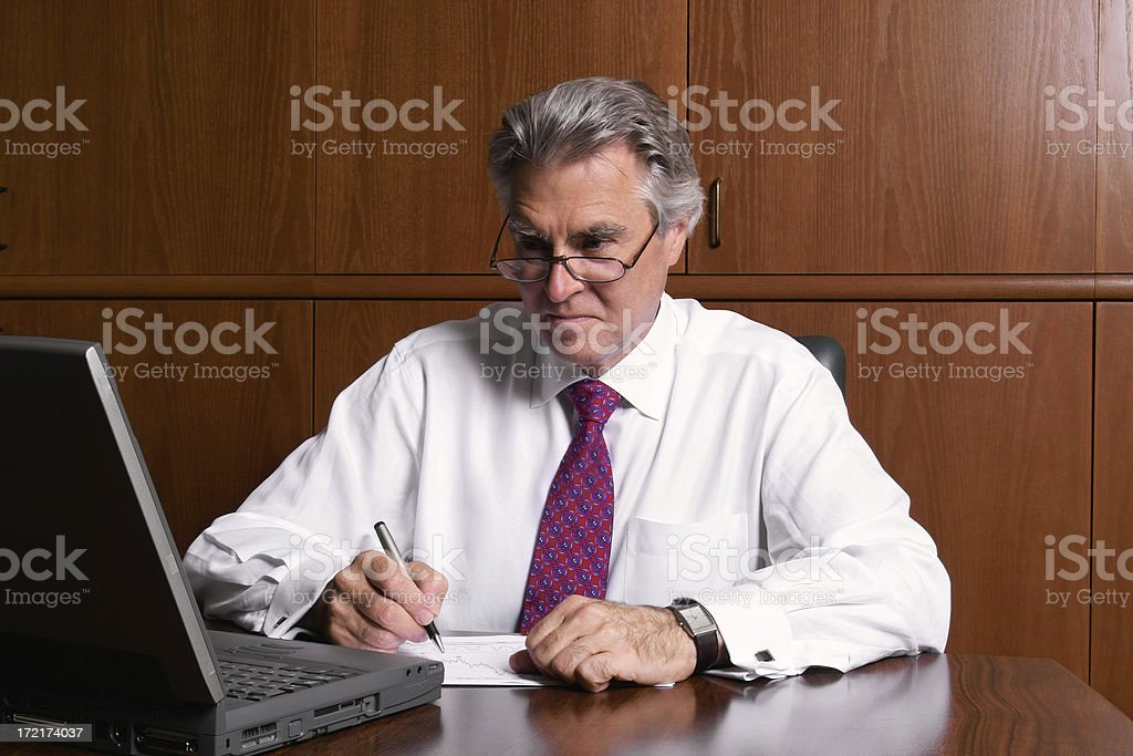 Number Crunching Businessman royalty-free stock photo