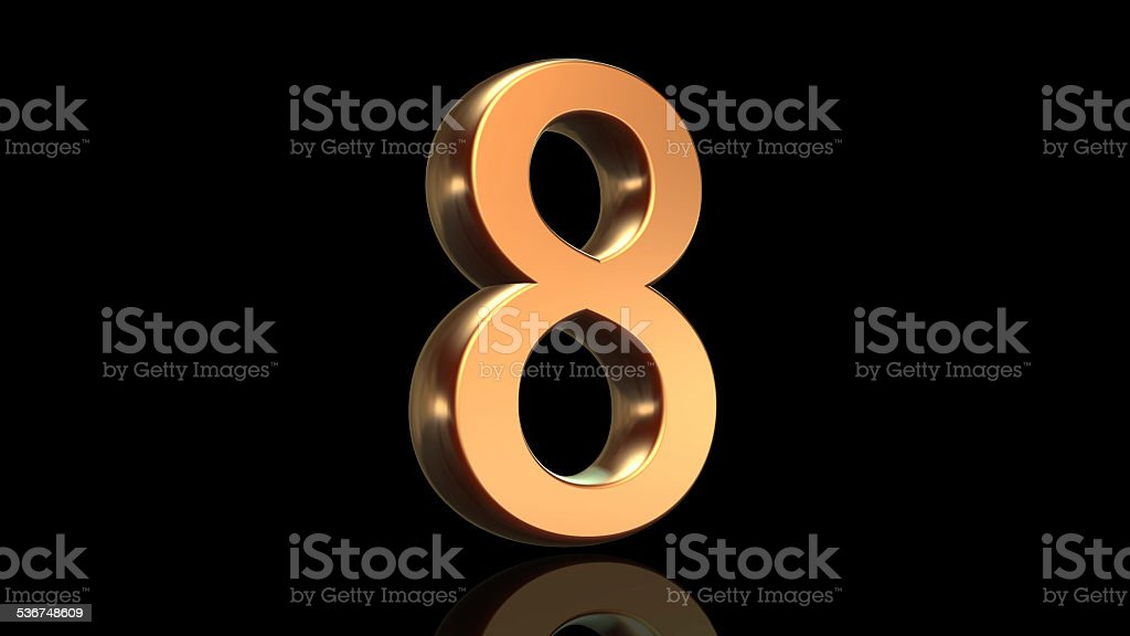 Number eight, eighth anniversary stock photo