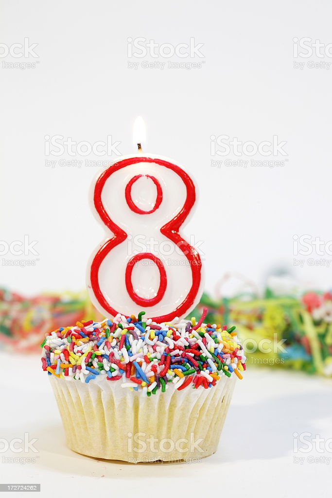 Number Eight Party Cake royalty-free stock photo
