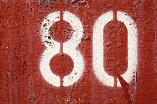 Zahl 80 – Foto