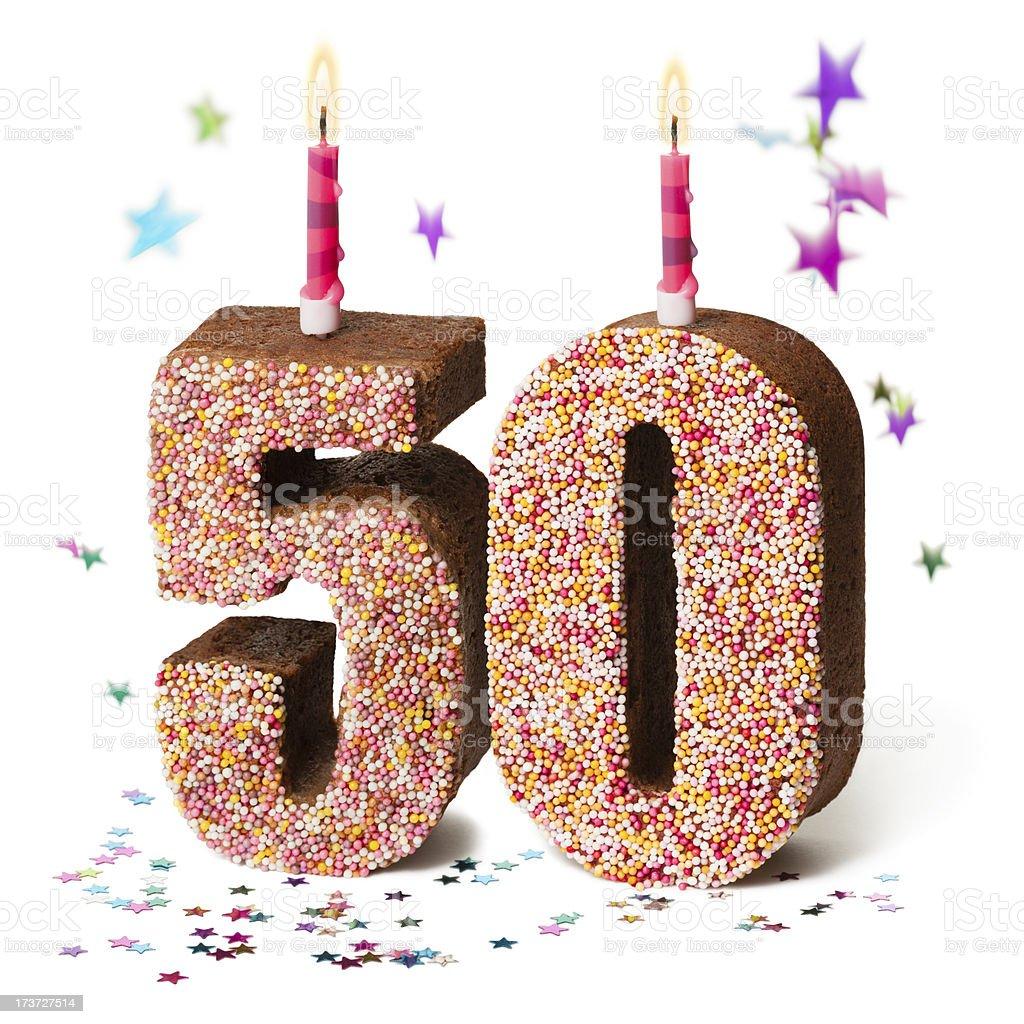 Zahl 50 50 Schokolade Geburtstagskuchen Stockfoto Und Mehr Bilder