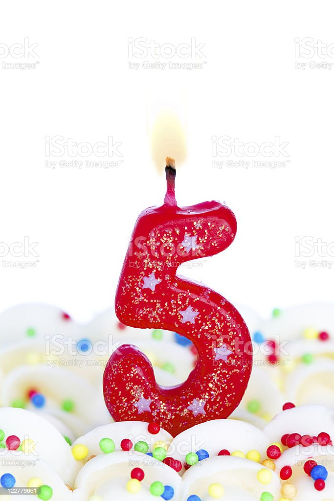 Number five candle royalty-free stock photo