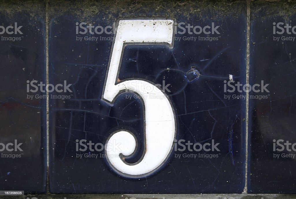 Number Five royalty-free stock photo