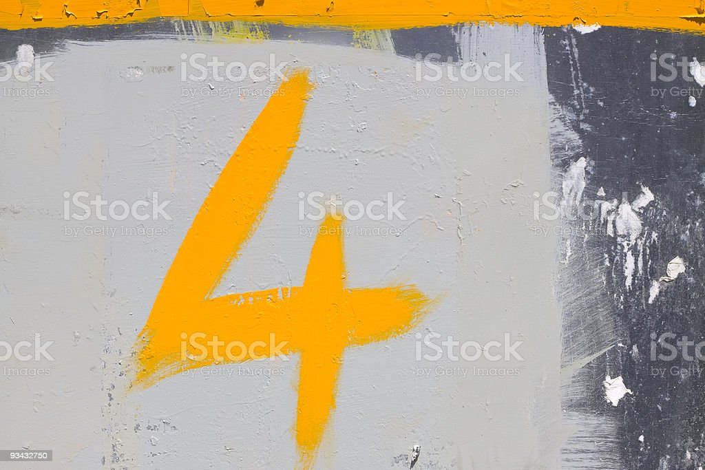 Number 4 Lizenzfreies stock-foto