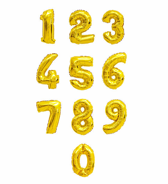 number from balloons stock photo