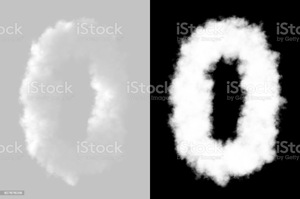 Number letters 0-9 stock photo