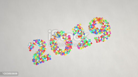 1051075452 istock photo 2019 number made from colorful confetti 1053893656