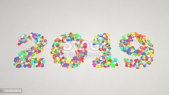 1051075452 istock photo 2019 number made from colorful confetti 1053893658