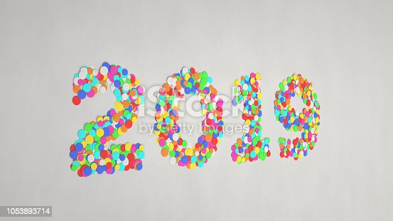 1051075452 istock photo 2019 number made from colorful confetti 1053893714