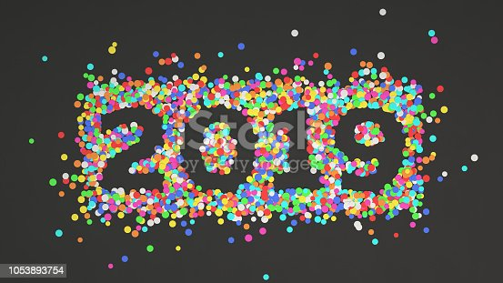 1051075452 istock photo 2019 number made from colorful confetti 1053893754