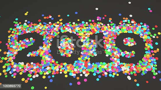 1051075452 istock photo 2019 number made from colorful confetti 1053893770