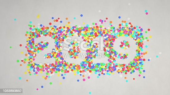 1051075452 istock photo 2019 number made from colorful confetti 1053893852