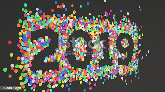 1051075452 istock photo 2019 number made from colorful confetti 1053893878