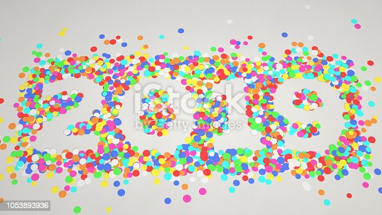 1051075452 istock photo 2019 number made from colorful confetti 1053893936
