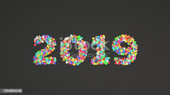 1051075452 istock photo 2019 number made from colorful confetti 1053894046