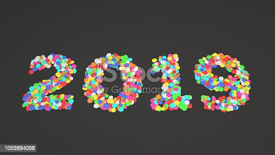 1051075452 istock photo 2019 number made from colorful confetti 1053894058