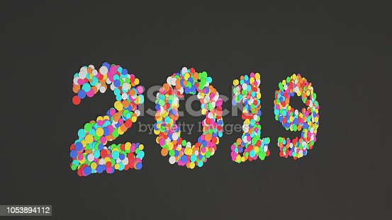1051075452 istock photo 2019 number made from colorful confetti 1053894112