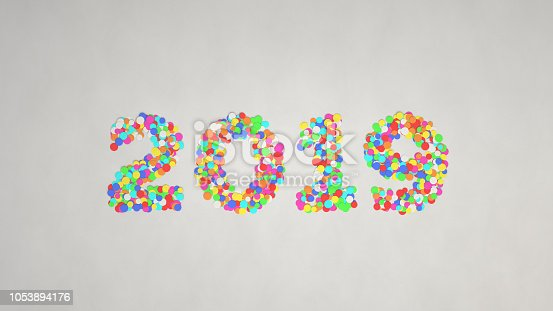 1051075452 istock photo 2019 number made from colorful confetti 1053894176