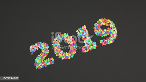 1051075452 istock photo 2019 number made from colorful confetti 1053894252
