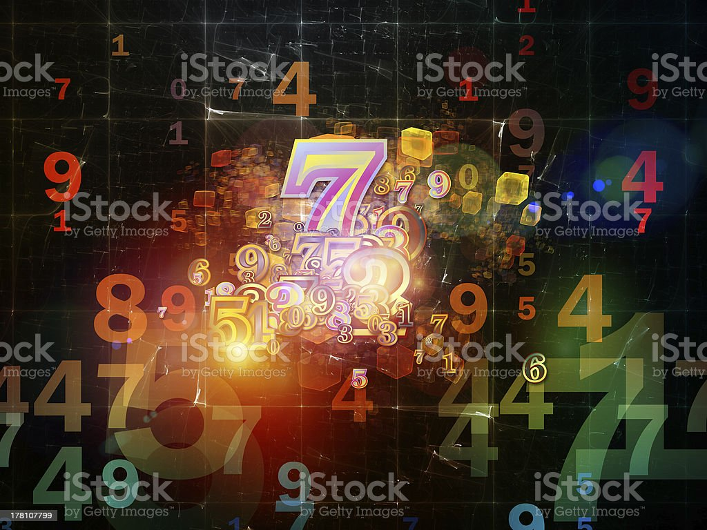 Number Mechanism royalty-free stock photo