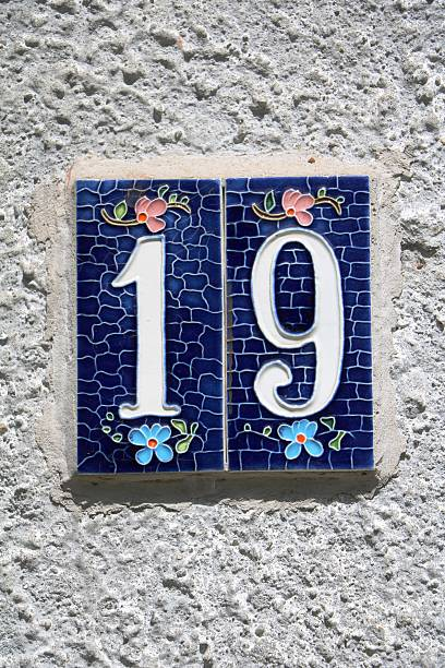 number nineteen - number 19 stock photos and pictures