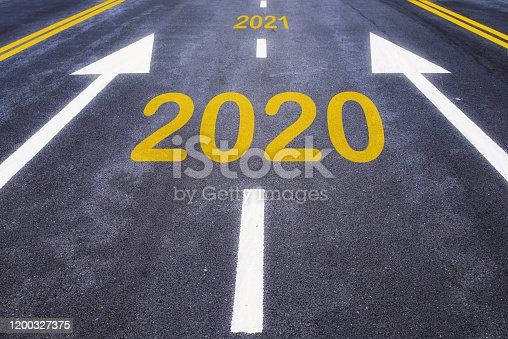 1081389658 istock photo Number of 2020 to 2021 on asphalt road surface with marking lines 1200327375