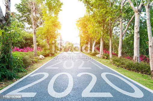 1150191246 istock photo Number of 2020 to 2022 on park road 1150192866