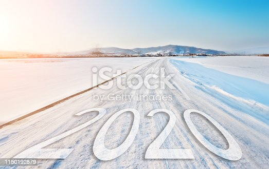 1150191246 istock photo Number of 2020 to 2022 on winter road 1150192879