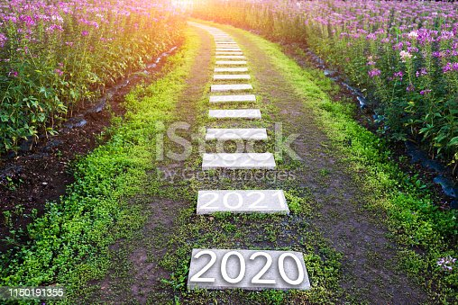 1150191246 istock photo Number of 2020 to 2024 on stone pathway 1150191355