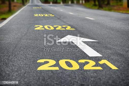 1081389658 istock photo Number of 2021 to 2024 on asphalt road surface with white arrow 1250440018