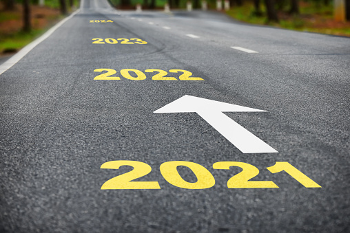 Business success concept and happy new year idea