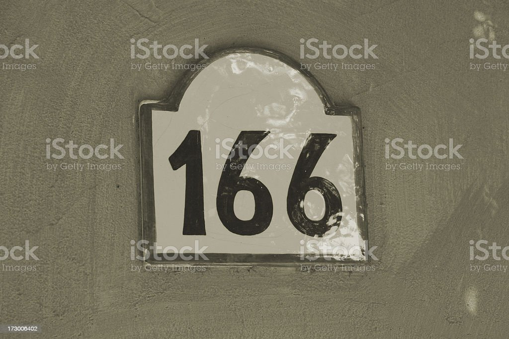 Number of a chamber royalty-free stock photo