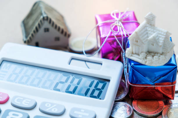 2018 Number On Calculator Displayhouse Model And Gift Stock Photo