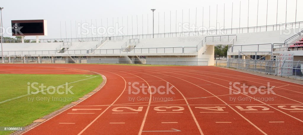 Number on running track. stock photo