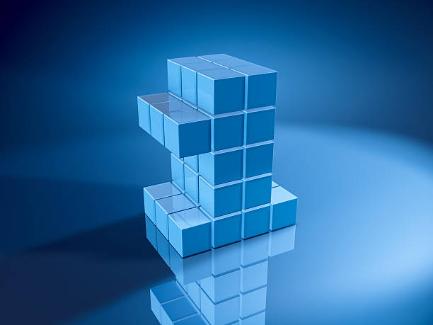 Number One Blue Cubes 3D Render of a Number One built with pixelated blue cubes. Very high resolution available! Use it for Your own composings!Related images: blue 3d business NOT map NOT background stock pictures, royalty-free photos & images