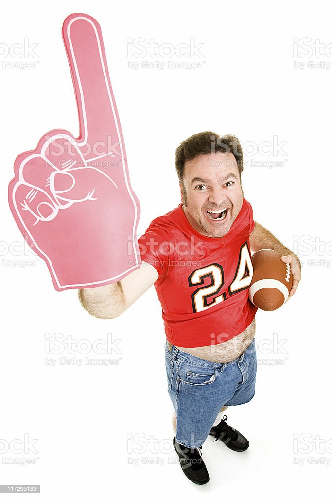 Number One Football Fan royalty-free stock photo