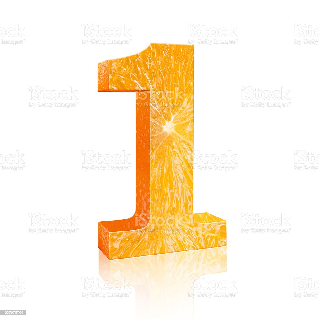 number one Fresh orange stock photo
