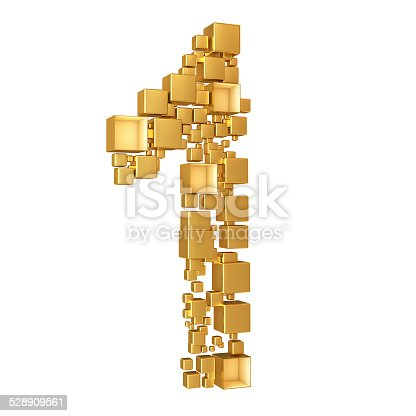 673234458istockphoto Number One Made of Golden Cubes Isolated 528909561