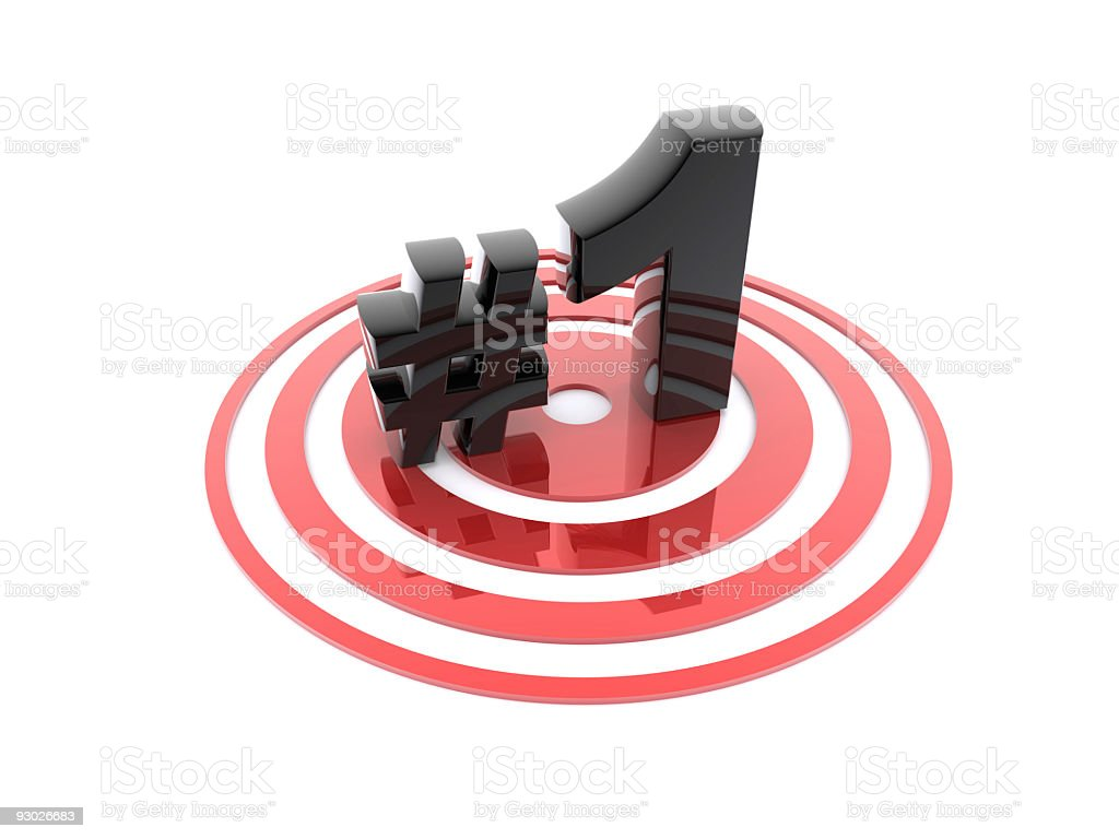 number one on target royalty-free stock photo