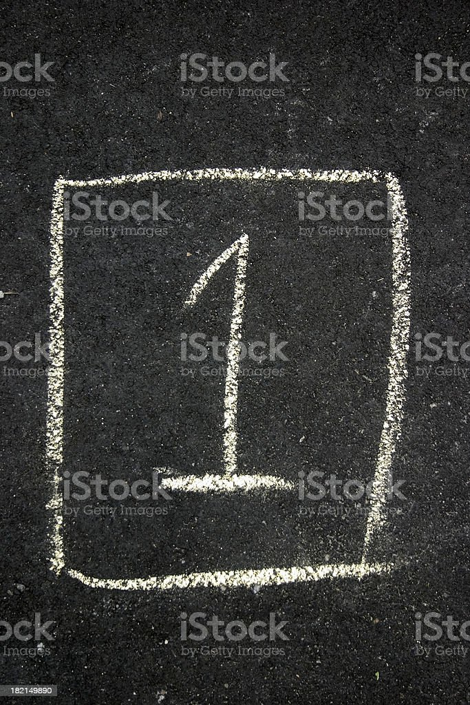 Number one royalty-free stock photo