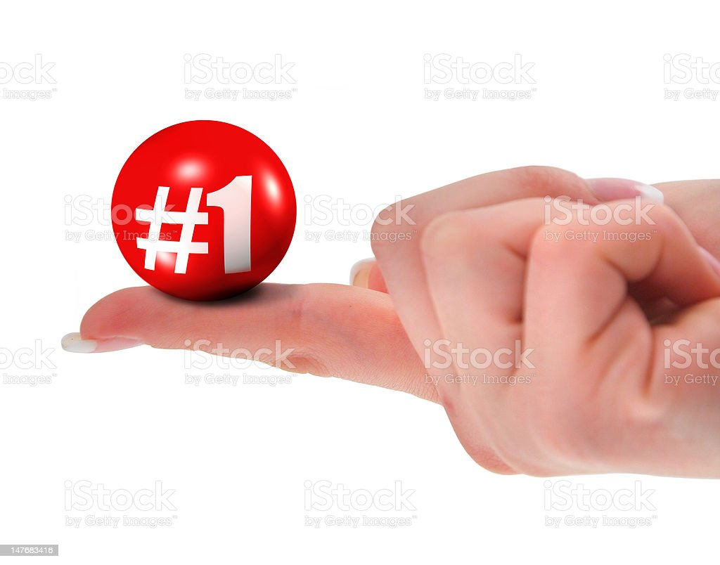 Number one sign on finger royalty-free stock photo