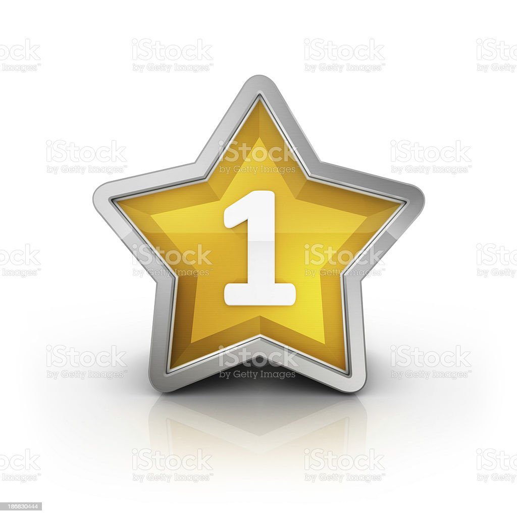 number one star royalty-free stock photo