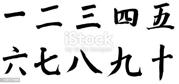 istock Number One to Ten in Chinese 149127695