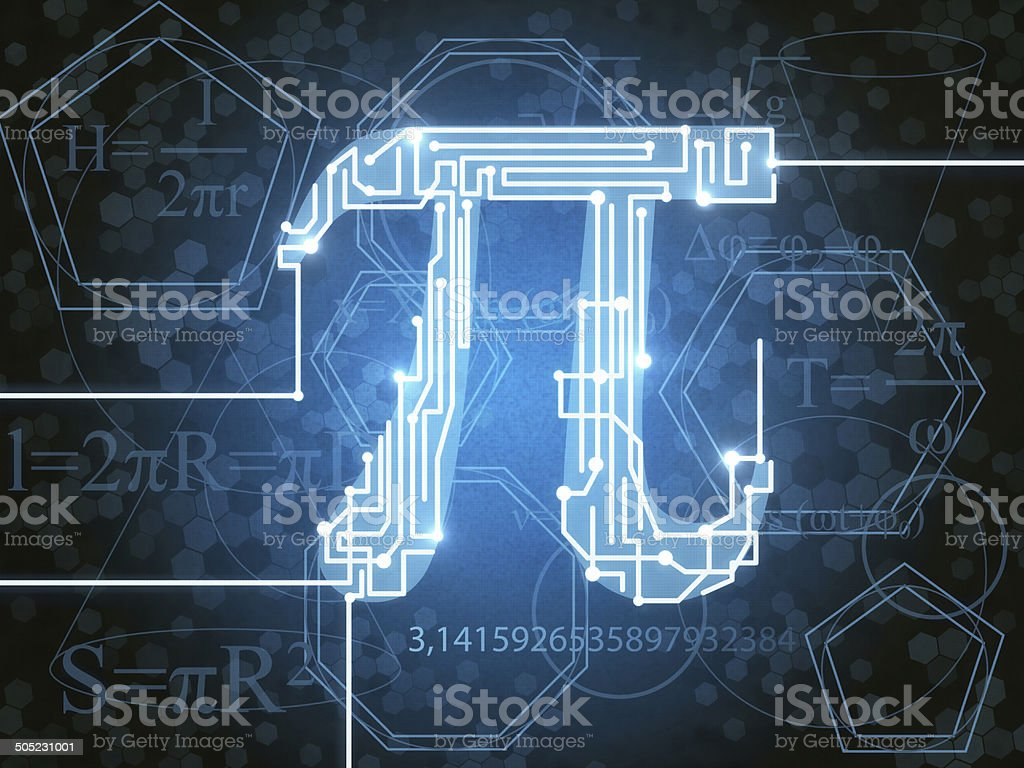 Number Pi stock photo