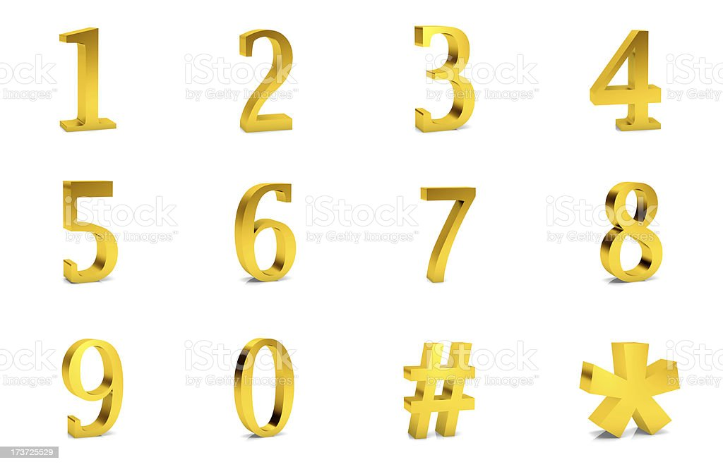 number stock photo