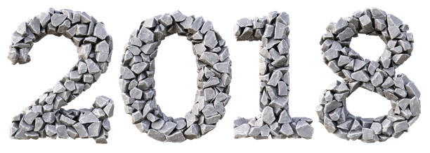 number - stone font stock photos and pictures