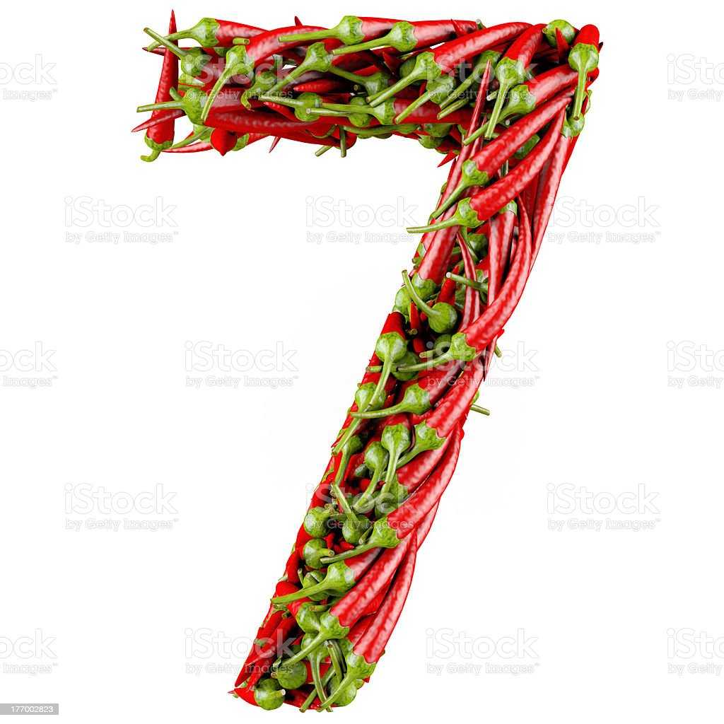 Number seven royalty-free stock photo