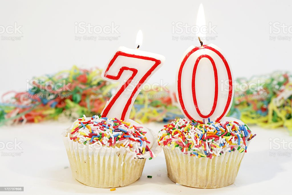 Number Seventy Party Cake royalty-free stock photo
