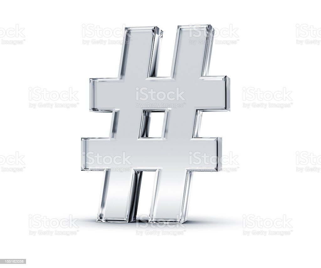 Number Sign royalty-free stock photo
