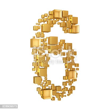 673234458istockphoto Number Six Made of Golden Cubes Isolated 528909573